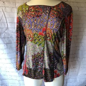Northstyle Blouse Boho Multi Color Spandex